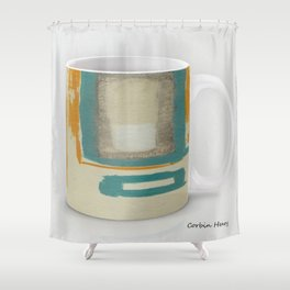 Soft And Bold Rothko Inspired Modern Art Coffee Mug Large   Corbin Henry Shower Curtain
