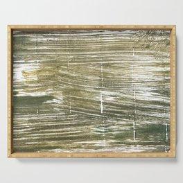 Dark green abstract Serving Tray