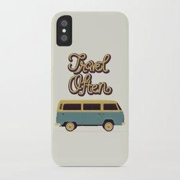 Travel Often iPhone Case