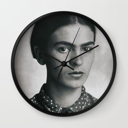 Frida Kahlo Portrait Wall Clock