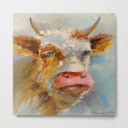 Young bull Metal Print