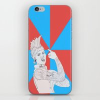 punk rock iPhone & iPod Skins featuring punk rock rosie. by snak3oil.