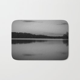 Black and White Sunset on Little Loon Bath Mat