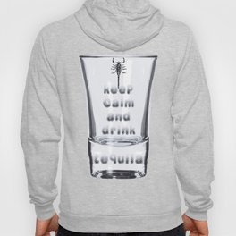 Blurred Vision Keep Calm And Drink Tequila Shots Hoody