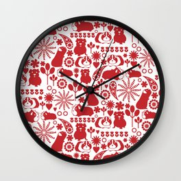 I love Red Guinea Pigs Wall Clock