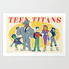Retro Teen Titans Art Print