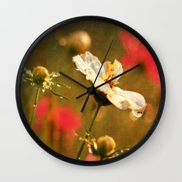 Flowers in the Rain Wall Clock