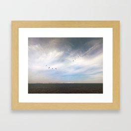Birds Over Blighty Framed Art Print