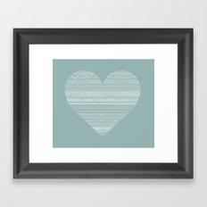 Coeur Framed Art Print
