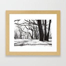 Tree bones Framed Art Print