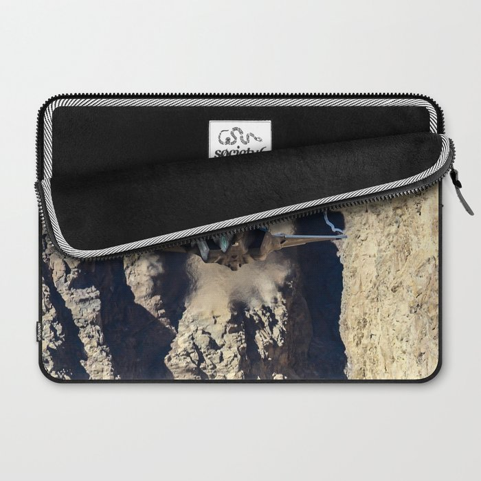 F-35 in Death Valley Laptop Sleeve