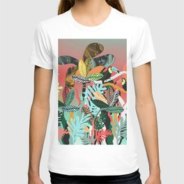 Sunset in the jungle T-shirt