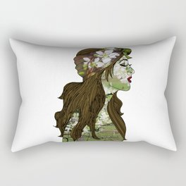 April in the Apple Blossoms Rectangular Pillow