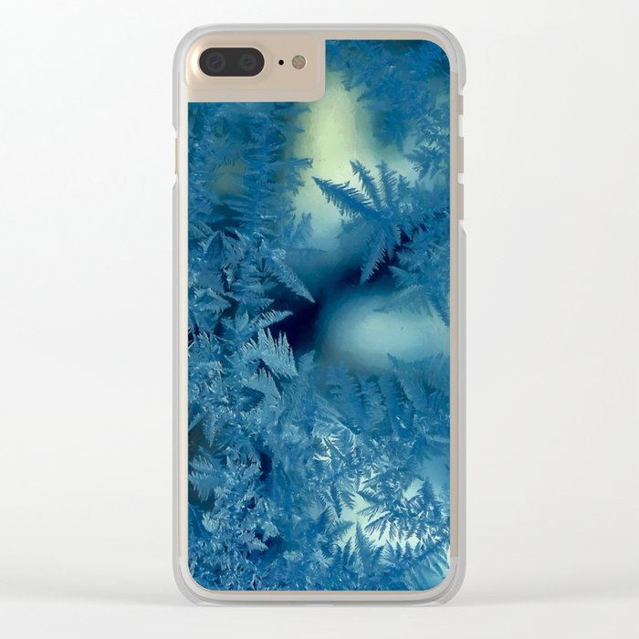 Frost patterns Clear iPhone Case