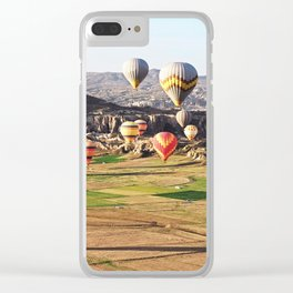 Hot air balloons flying over Cappadocia Clear iPhone Case