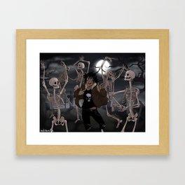 Spooky Scary Skeletons Framed Art Print