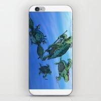 ninja turtles iPhone & iPod Skins featuring Ninja Turtles by MrDenmac