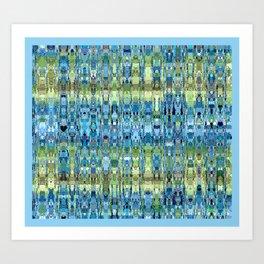 rivière de couleurs douces  Art Print