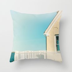 Cottage by the sea Throw Pillow