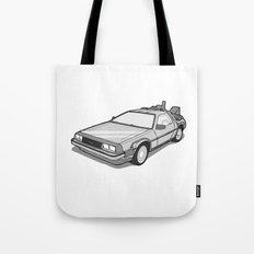Back to the Future Delorean illustration Tote Bag