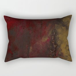 Red and Gold Rectangular Pillow