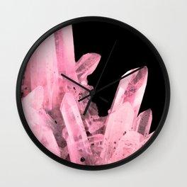 Pink Crystals Wall Clock