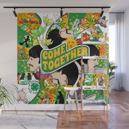 Come Together (Green and Yellow) Wall Mural