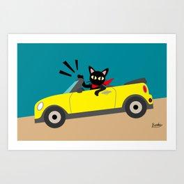 Whim in the car Art Print