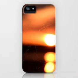 Sunset Through A Spiderweb iPhone Case