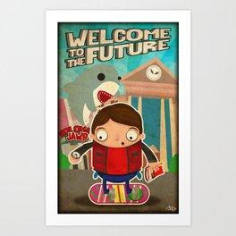 Back to the Future II Art Print