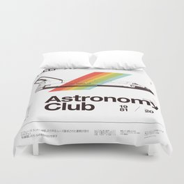 Astronomy Club Duvet Cover