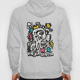 Graffiti King with Funk Flashy Colored Ghost Hoody