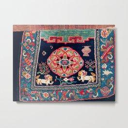 Shigatse Makden South Tibetan Buddhist Saddle Cover Print Metal Print