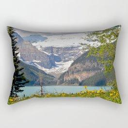 Scenic Lake Louise in Canada Rectangular Pillow