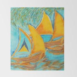 """St. Lucia"" Throw Blanket"