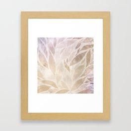 Brownie leaves Framed Art Print