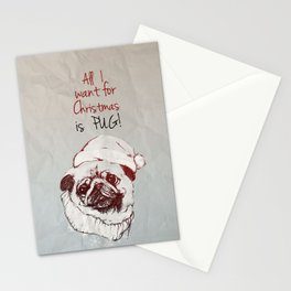 Christmas Pug Stationery Cards