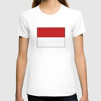indonesia T-shirts featuring indonesia country flag by tony tudor