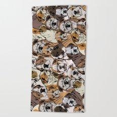 Social English Bulldog Beach Towel