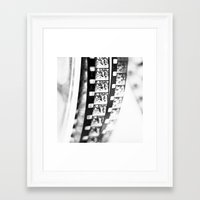 film Framed Art Prints featuring film by Ingrid Beddoes