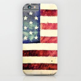 Vintage American Flag iPhone Case