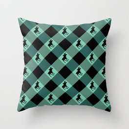 MOOSE CHECK Throw Pillow