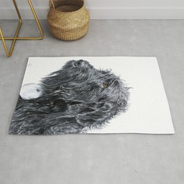 Black Labradoodle Rug