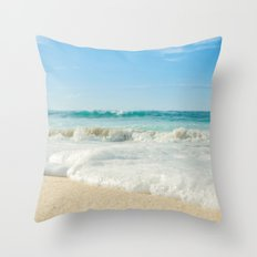Aloha Kapukaulua Beach Throw Pillow