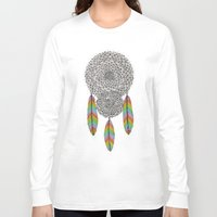 dream catcher Long Sleeve T-shirts featuring Dream Catcher by Luna Portnoi