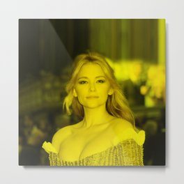 Haley Bennett - Celebrity (Florescent Color Technique) Metal Print
