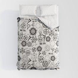 Supernatural Symbols Comforters