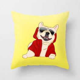 Stylin French Bulldog Throw Pillow