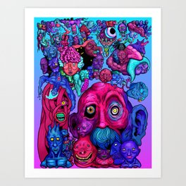 Mind of a thousand Thoughts Art Print