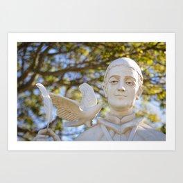 St. Gregory Statue Art Print